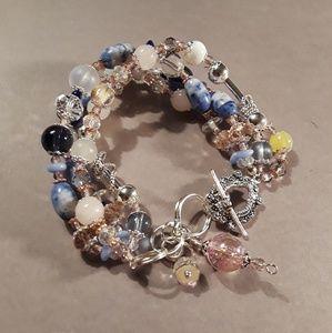 4 Strand vintage beaded bracelet.